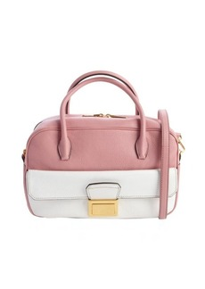Miu Miu pink and white leather convertible top handle bag