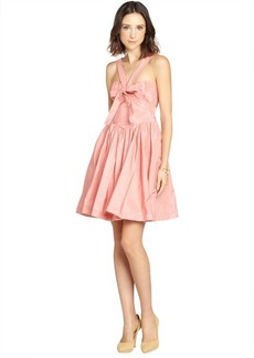 Miu Miu pink flare skirt tie front dress