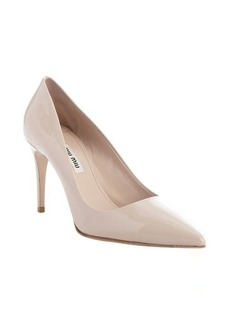 Miu Miu powder patent leather pointed toe pumps