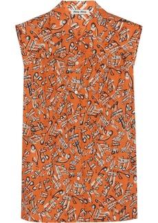 Miu Miu Printed cotton blouse