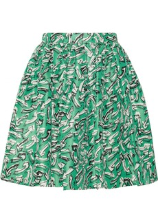 Miu Miu Printed silk-faille skirt