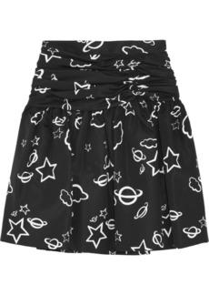 Miu Miu Printed silk-taffeta mini skirt