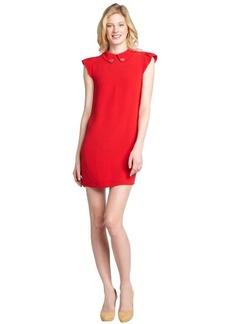 Miu Miu red crepe peter pan collar cutout back dress