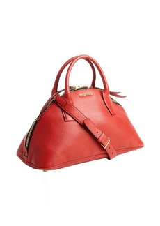 Miu Miu red leather convertible trapezoid tote