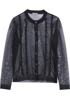 Miu Miu Ruffle-front mesh cardigan
