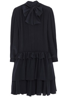 Miu Miu Ruffled silk-crepe de chine mini dress