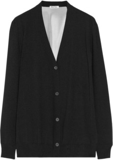 Miu Miu Silk chiffon-back cashmere and silk-blend cardigan