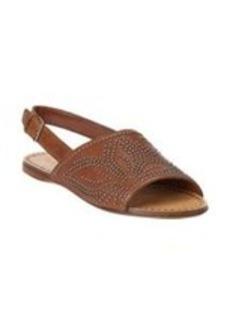 Miu Miu Studded Asymmetrical Slingback Flat Sandals