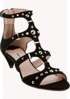 Miu Miu Studded Multi-Strap Sandals