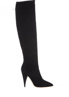 Miu Miu Suede Point-Toe Knee Boots