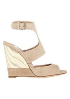 Miu Miu Wooden Wedge Sandals