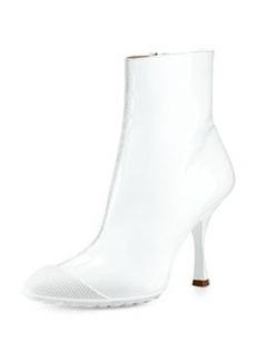 Patent Short Cap-Toe Rain Boot, White   Patent Short Cap-Toe Rain Boot, White