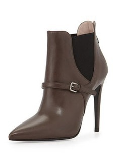 Pointed Elastic-Side Ankle Boot   Pointed Elastic-Side Ankle Boot