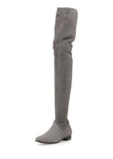 Suede Over-the-Knee Boot, Nebbia   Suede Over-the-Knee Boot, Nebbia