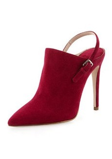Suede Point-Toe Ankle Boot, Bougainvillea   Suede Point-Toe Ankle Boot, Bougainvillea