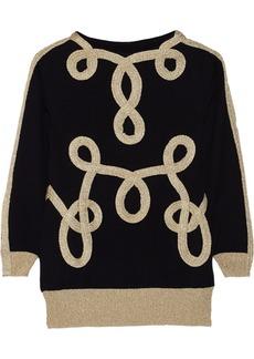 Moschino Appliquéd wool sweater
