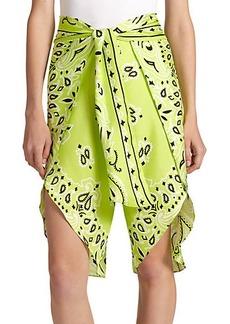 Moschino Bandana-Print Silk Shorts