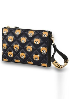 Moschino Bear Print Quilted Clutch