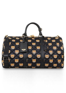 Moschino Bear Print Quilted Weekend Bag