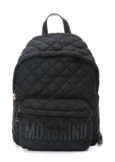 Moschino black diamond quilted nylon backpack