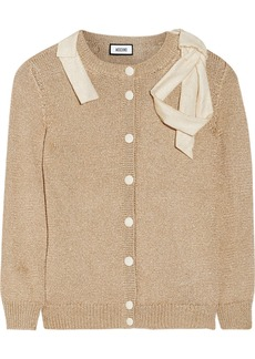Moschino Bow-embellished knitted cardigan