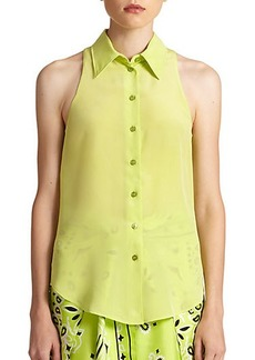 Moschino Collared Silk Blouse