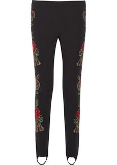 Moschino Embellished crepe straight-leg pants