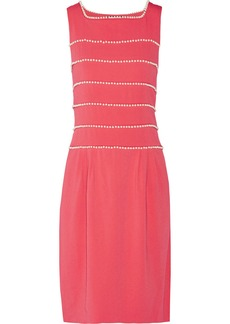 Moschino Embellished tiered crepe dress