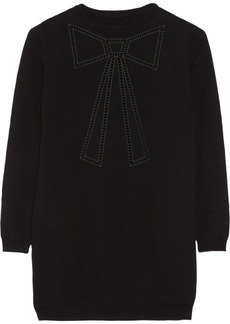 Moschino Embroidered wool sweater