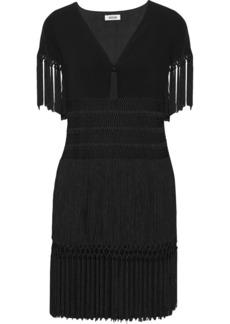 Moschino Fringed crepe dress