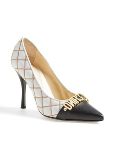Moschino Letter Pointy Toe Pump (Women)