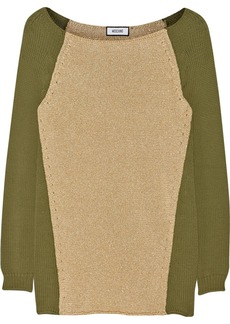 Moschino Paneled cotton-blend sweater