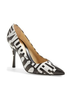 Moschino Print Pointy Toe Pump (Women)