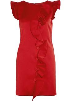 Moschino Ruffled duchesse-satin mini dress
