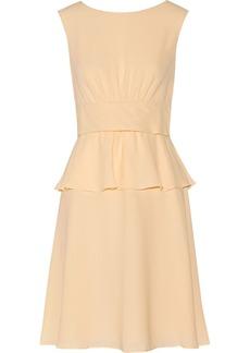 Moschino Tiered silk-crepe dress
