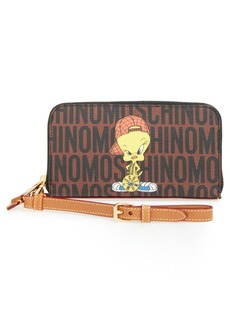 Moschino 'Looney Tunes - Tweety' Zip Around Wallet