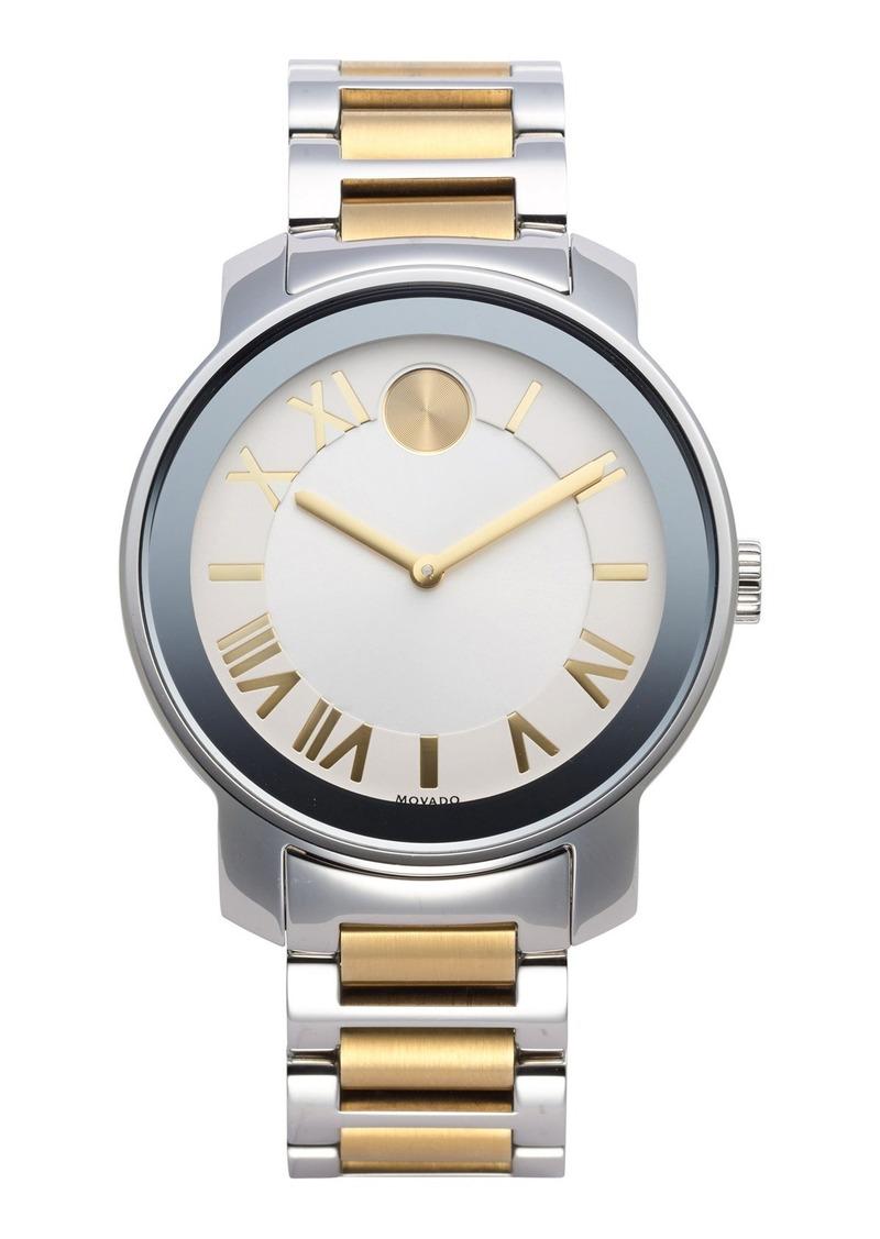 Movado Movado Bold Two Tone Round Bracelet Watch 39mm