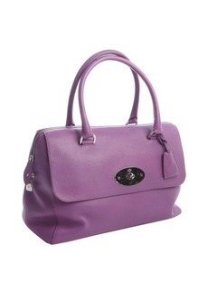 Mulberry begonia leather top handle satchel