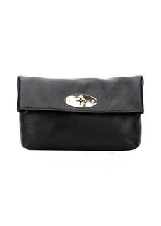 Mulberry black glossy goatskin 'Clemmie' clutch