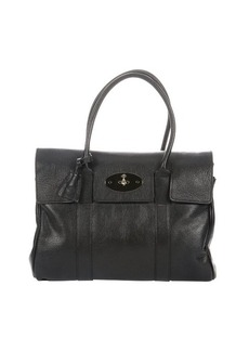 Mulberry black leather 'Bayswater' top handle satchel