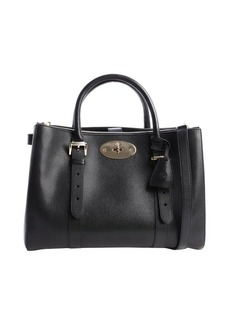 Mulberry black leather 'Bayswater' zip shopping tote
