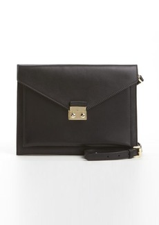 Mulberry black leather 'Kensal' crossbody envelope shoulder bag
