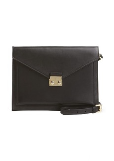 Mulberry black leather 'Kensal' crossbody envelope shoulder bag