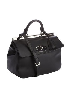 Mulberry black leather small 'Suffolk' bag