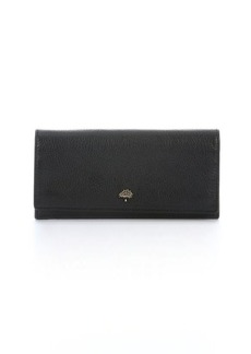 Mulberry black leather 'Tree' continental wallet