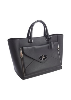 Mulberry black leather 'Willow' convertible front pocket large tote