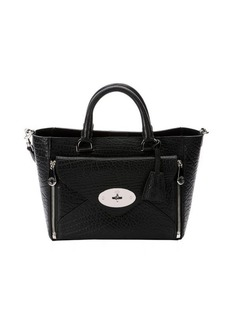 Mulberry black leather 'Willow' small top handle tote