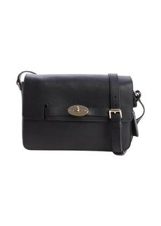 Mulberry black shined leather 'Bayswater' shoulder bag