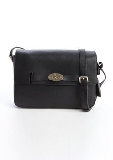Mulberry black shined leather 'Bayswater' shoulder bag
