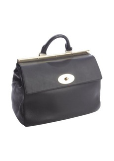 Mulberry black silky calf leather 'Suffolk' satchel